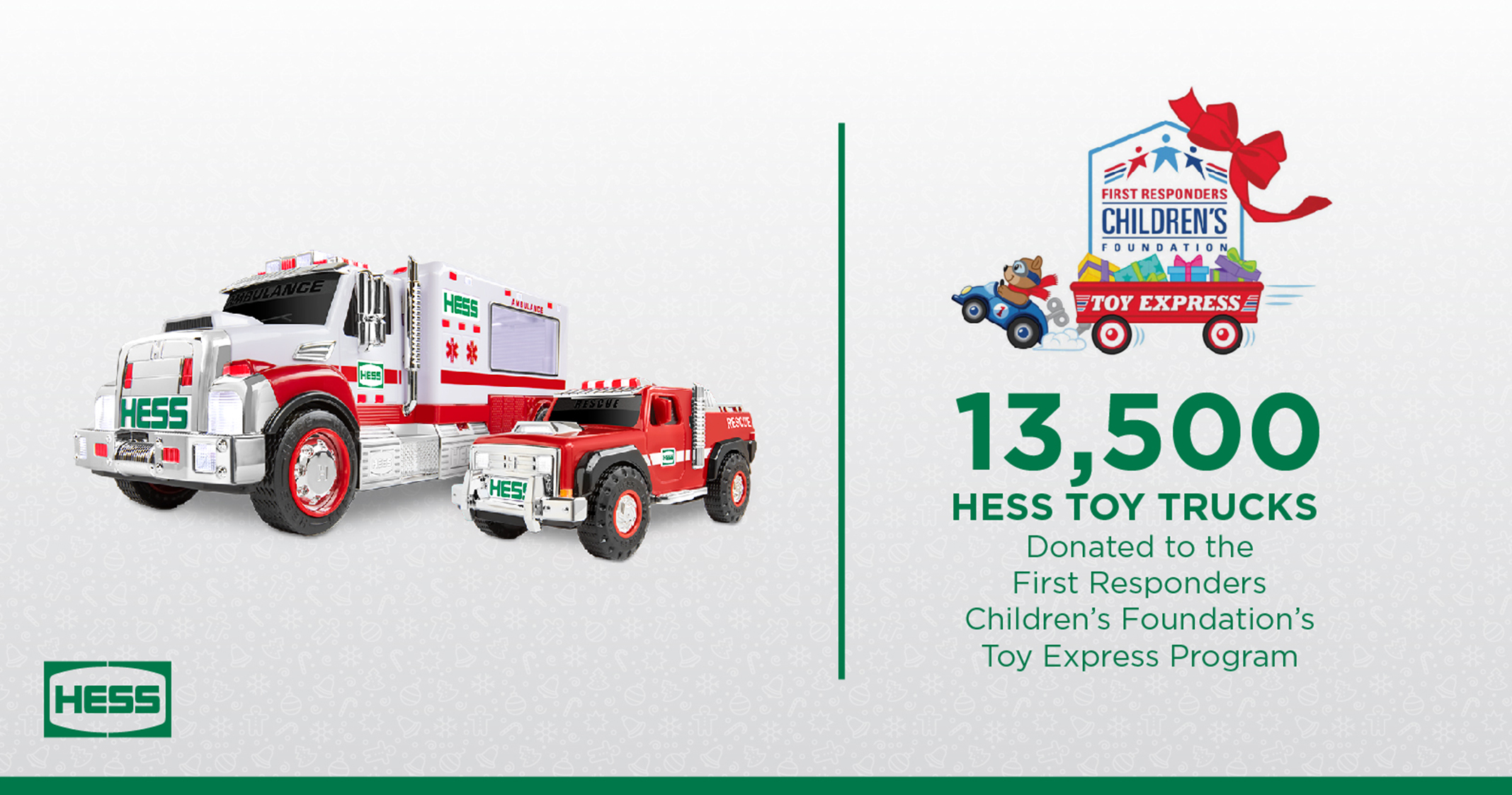 HESS - Community - First Responders Toy Truck Donation