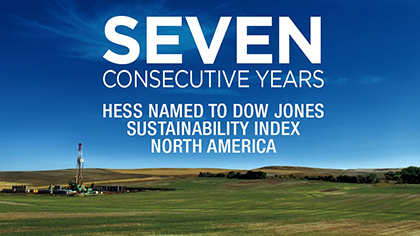 Hess named to DJSI seven years in a row