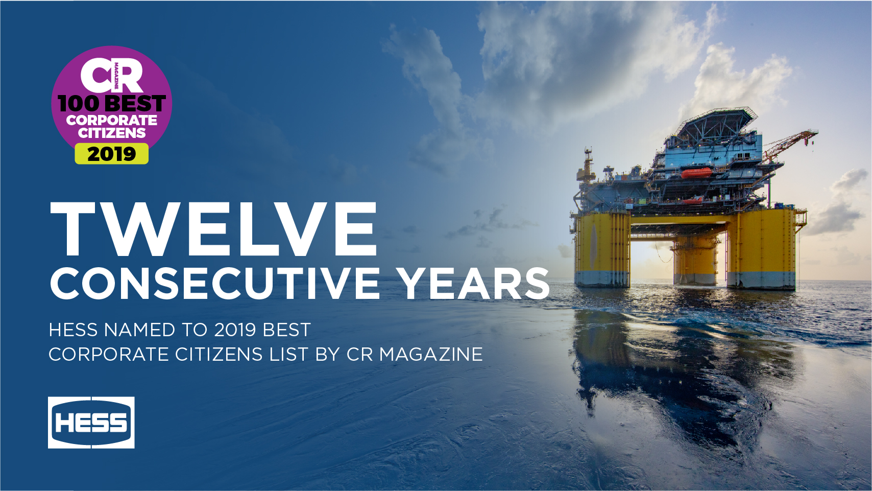 Hess Ranked on CR Magazine Best Corporate Citizens List 2019