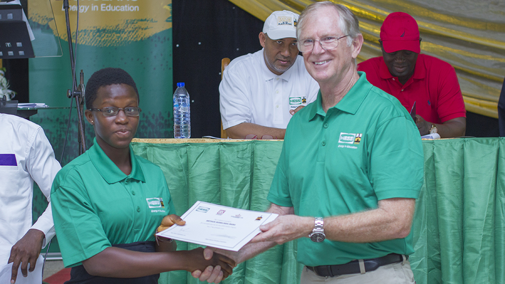 Frank McKay, General Manager, Hess Ghana Exploration Ltd., made the announcement at a secondary school in western Ghana during an event marking the fifth annual scholarship presentation by the two companies.
