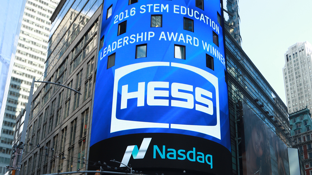 Hess was honored at the STEM Education Leadership Awards presented by Nasdaq and EverFi.