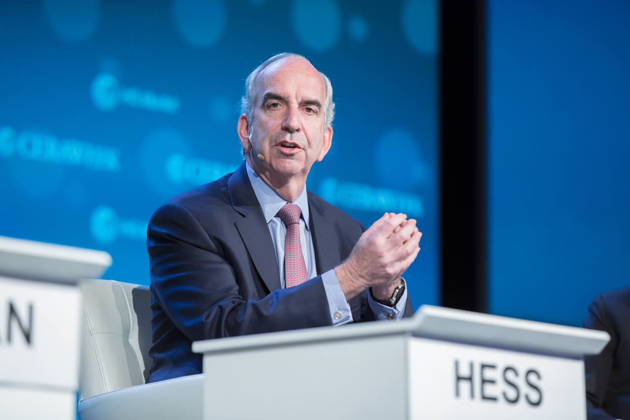 Hess CEO Tells CERAWeek Lower Investment Will Not Meet Supply Needs. 01/09/2018