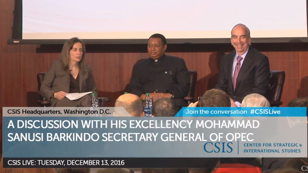 OPEC Secretary General Mohammad Barkindo joined Hess CEO John Hess to discuss oil market trends.