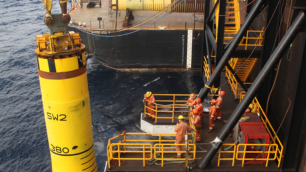 Piles Installation for Stampede in the Gulf of Mexico