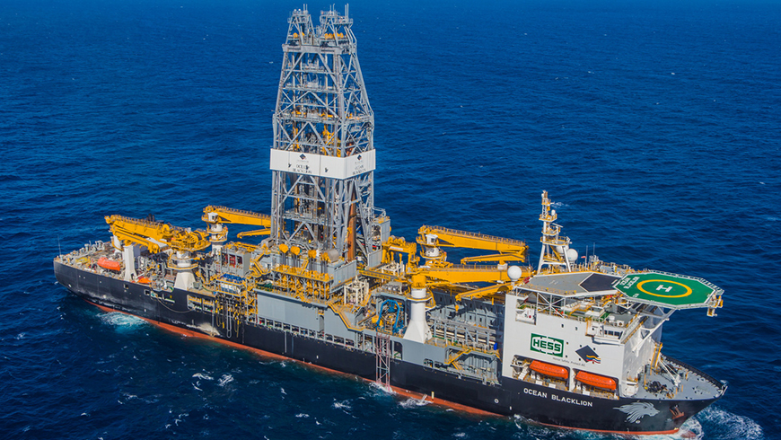 Ocean Blacklion drill ship in Gulf of Mexico