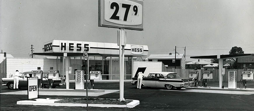 First Hess Gas Station in New Jersey 1960